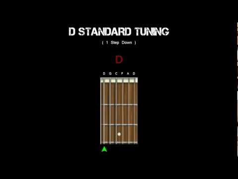 Guitar Tuning - D Standard (1 Step Down)