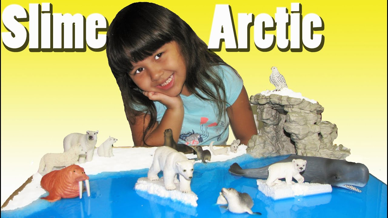 How To Make Slime and Grow Snow Arctic Scenery DIY with