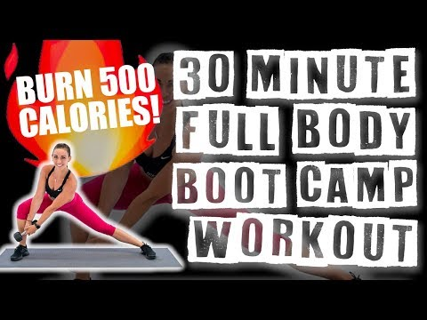30 Minute Full Body Boot Camp Workout ��Burn 455 Calories!��