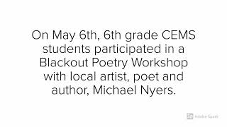 Campbell Elementary & Middle School - Blackout Poetry Workshop May 6th, 2019
