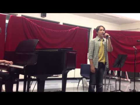 "11 year old Zack Brown - Mash-up ""Hallelujah/One Day"" Close-up"