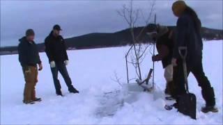 Ice Fishing in Teslin Yukon