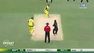 David Warner 119 vs NZ 2016 second odi.
