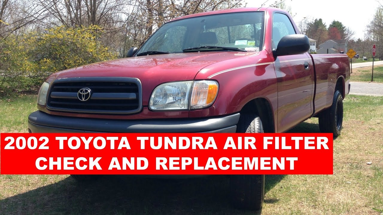How To Change Air Filter 2002 Toyota Tundra Youtube