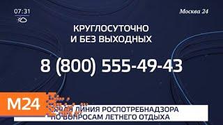 Смотреть видео Роспотребнадзор открывает горячую линию по вопросам детского отдыха - Москва 24 онлайн
