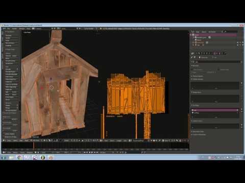 Otimizar modelos do Sketchup no Blender e fazer Bake de Textura