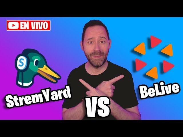StreamYard vs BeLive + SORTEO para suscriptores