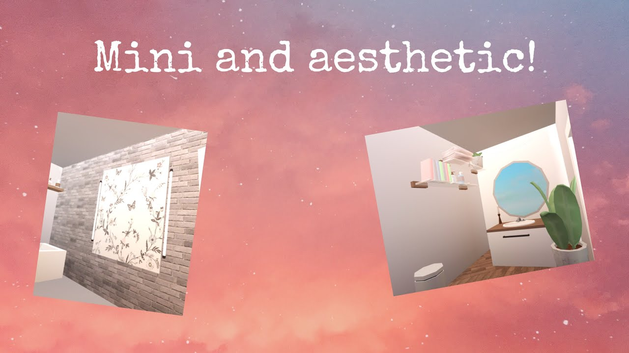 Mini and cheap aesthetic bathroom ideas on roblox bloxburg ...