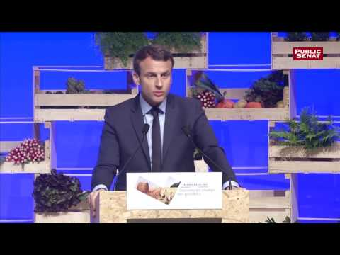 Emmanuel Macron face à la FNSEA
