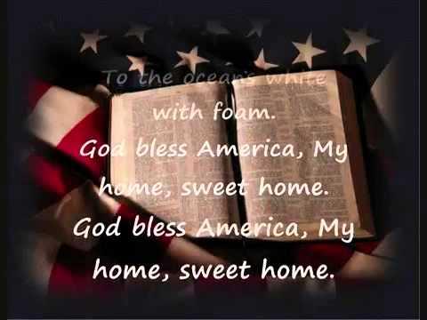 God Bless America with lyrics