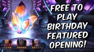 Free To Play Birthday Featured 5 Star Crystal Opening! - Marvel Contest Of Champions