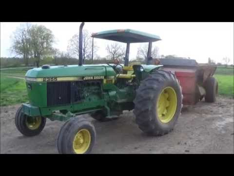 Spreading Manure With A John Deere 2355 and Kuhn-Knight 8114