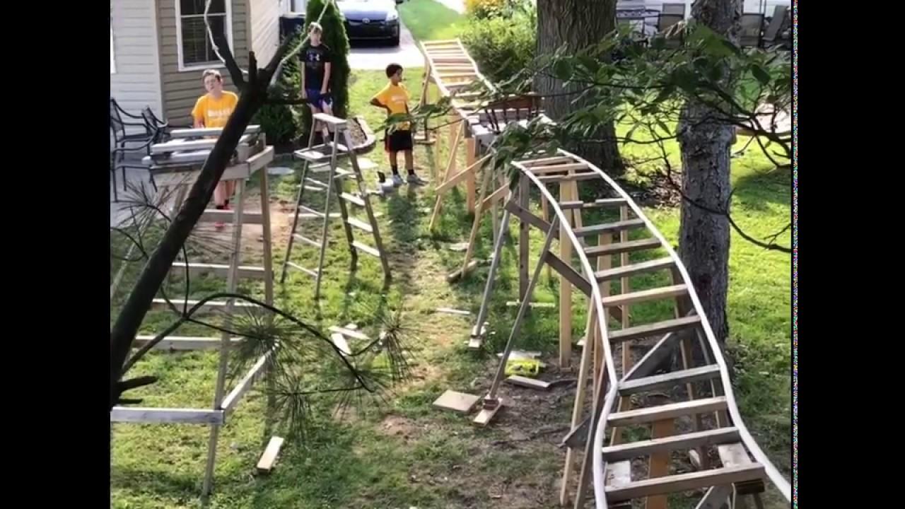 Building the Backyard Roller Coaster - YouTube