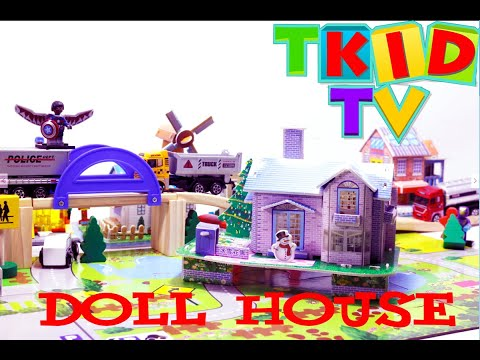 Kids Art and Craft: How to make 3D paper- 3D PAPER CITY - Doll house #4