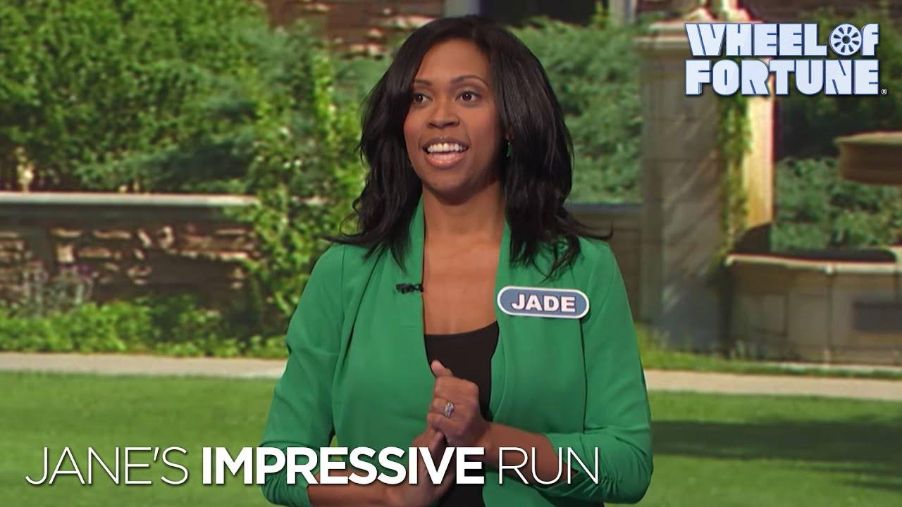 Same Letter Wheel Of Fortune.Jade S Impressive Run Wheel Of Fortune