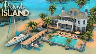 PRIVATE ISLAND HOUSE | 3 Bdr + 4 Bth | NO CC | The Sims 4: Speed Build
