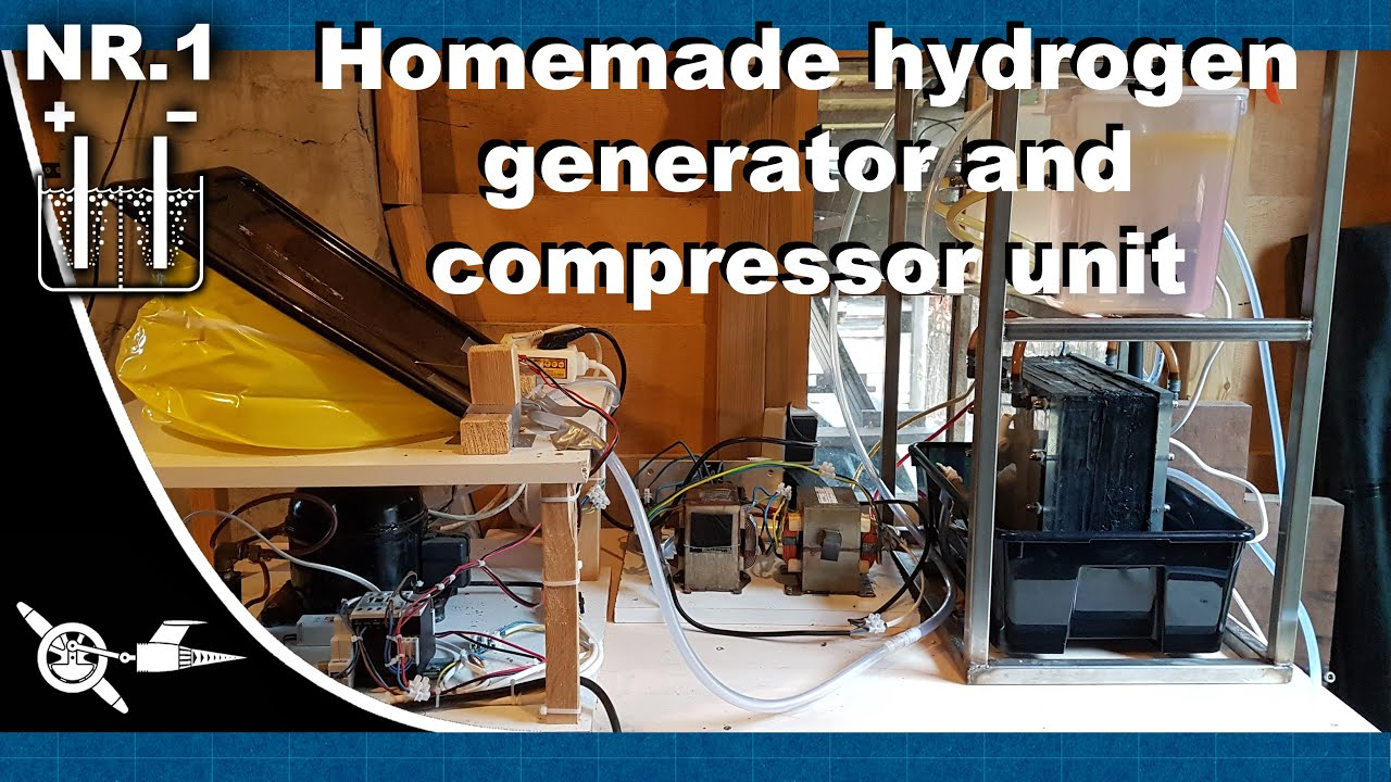 Homemade hydrogen generator and compressor unit