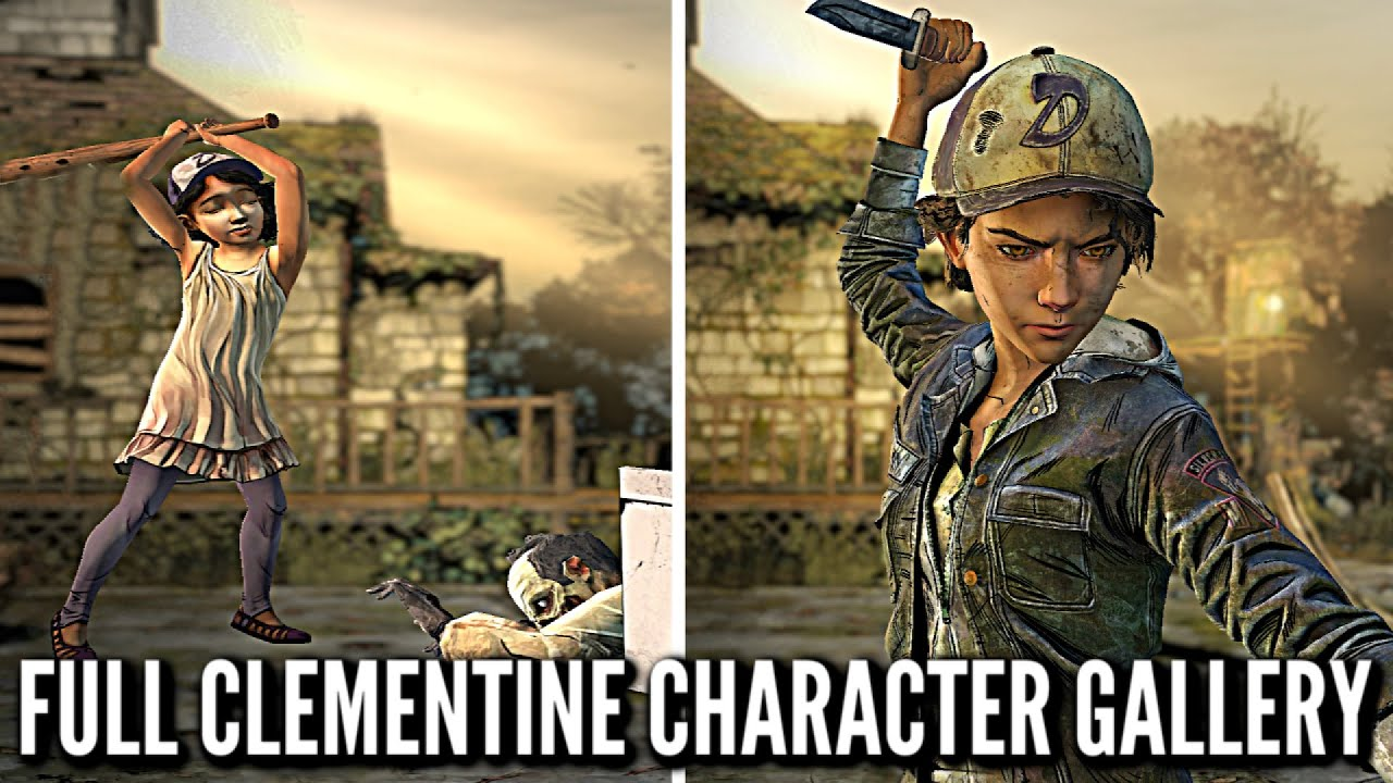 All Clementine Character Animations Voice Lines And Outfits The Walking Dead Definitive Edition