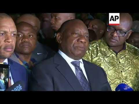 South African president arrives at Soweto home of Winnie Madikizela-Mandela