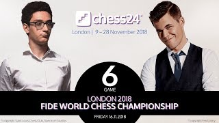 Carlsen-Caruana Game 6 - 2018 FIDE World Chess Championship