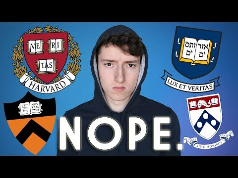 Why You SHOULDN'T Apply To An Ivy League School | What Nobody Will Tell You (2019)