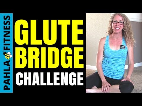 * 6 Minute GLUTE BRIDGE Challenge | Build Your Butt Home ...