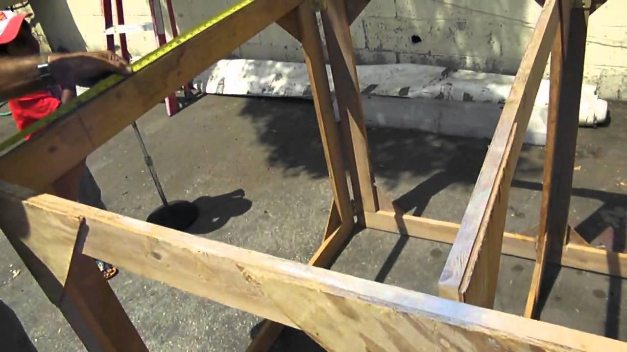 Folding wooden stage platform youtube for How to make wooden platform