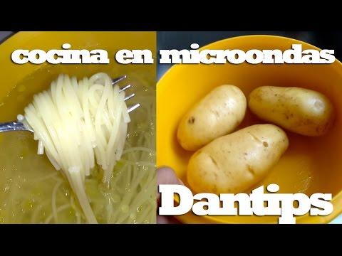 Como cocinar papas y espagueti en horno de microondas for Como cocinar espagueti