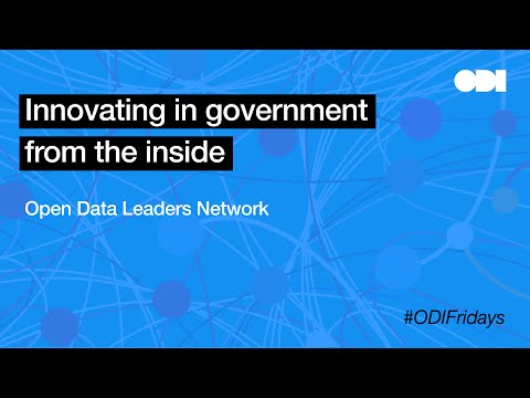 Friday lunchtime lecture: Innovating in government from the inside: meet the open data leaders