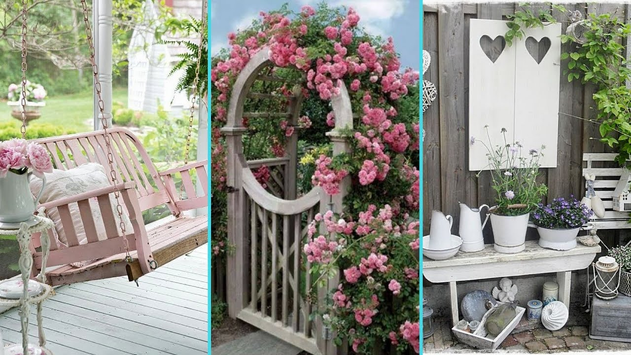 diy shabby chic garden decor ideas