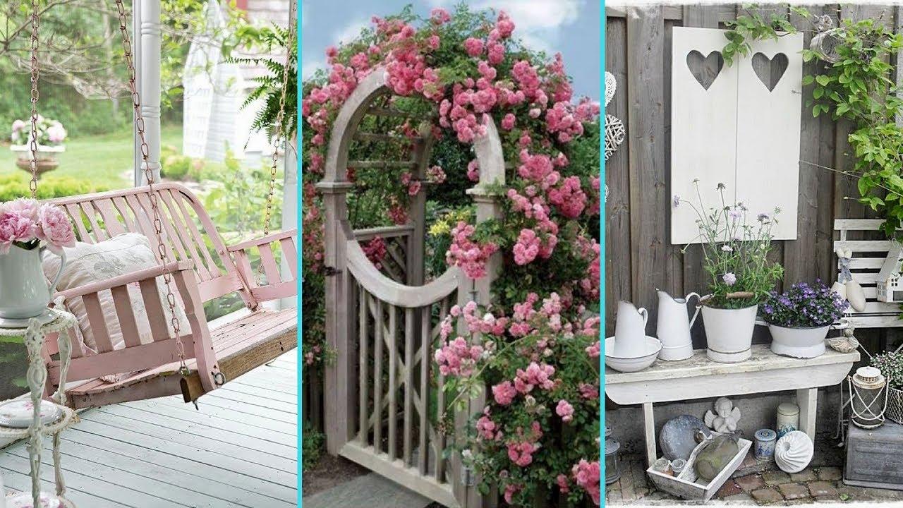 DIY Shabby Chic Garden decor Ideas 2017 | Home decor ... on Chic Patio Ideas id=85186