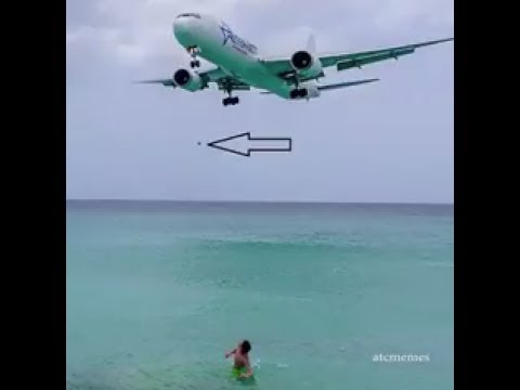 Tourist filmed throwing object to approaching Amerijet Boeing 767 at Maho Beach, St Maarten