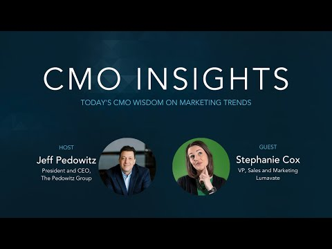 CMO Insights: How to build apps without code | Stephanie Cox, VP Sales and Marketing, Lumavate
