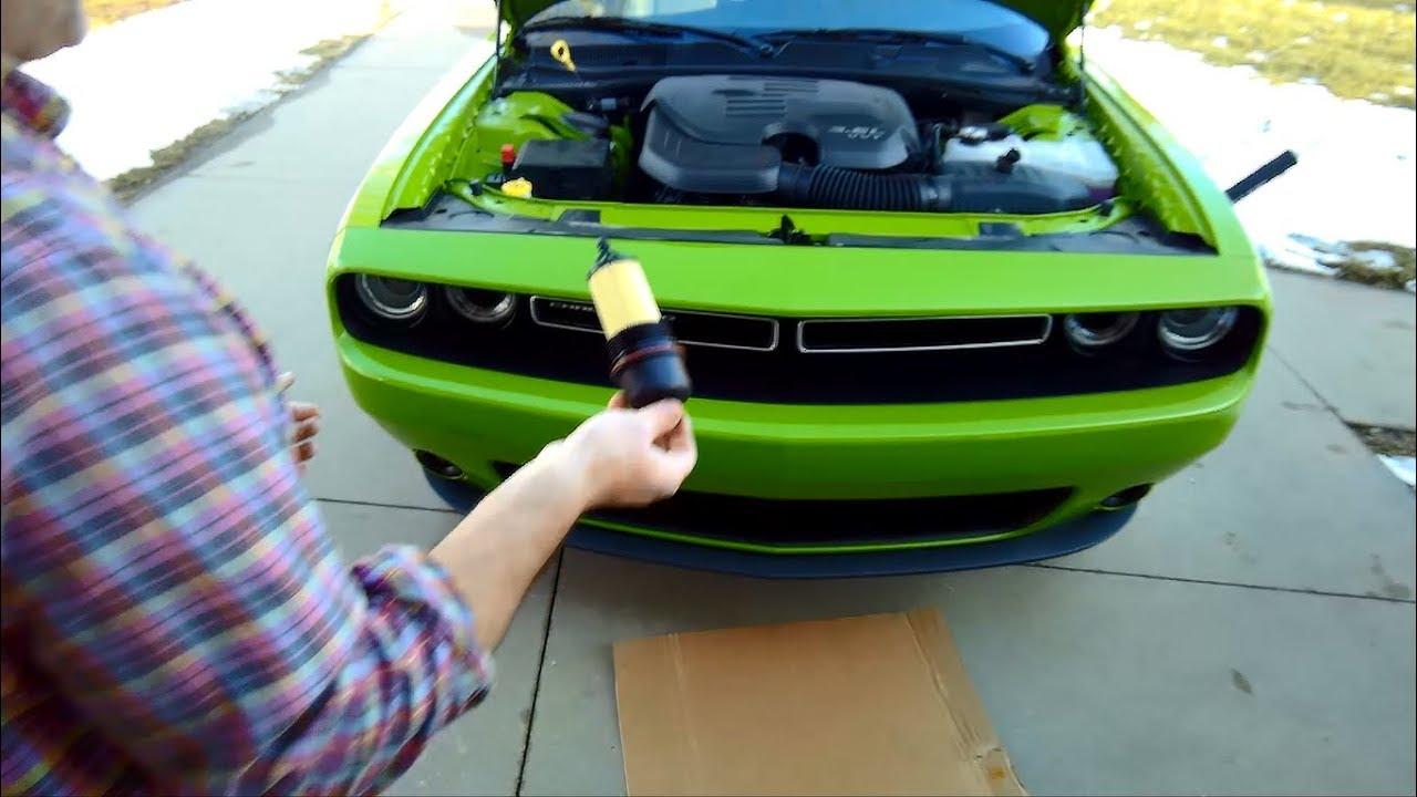 2017 Dodge Challenger GT AWD 3.6L V6 Oil Change - YouTube