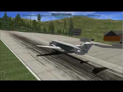 X-Plane 10:Beech 1900D aterrizando en Peyresourde-LFIP