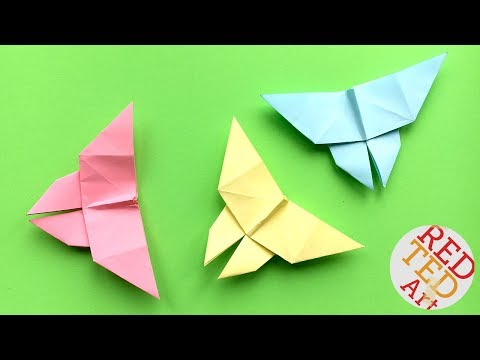 Easy Origami Butterfly 2  - Easy Paper Butterfly DIY - Animal Origami