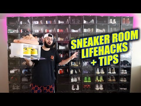SNEAKER ROOM LIFE HACKS + TIPS EVERYONE NEEDS!!