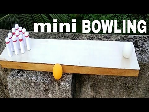 How to make wooden bowling mini bowling lane homemade bowling how to make wooden bowling mini bowling lane homemade bowling diy solutioingenieria Images