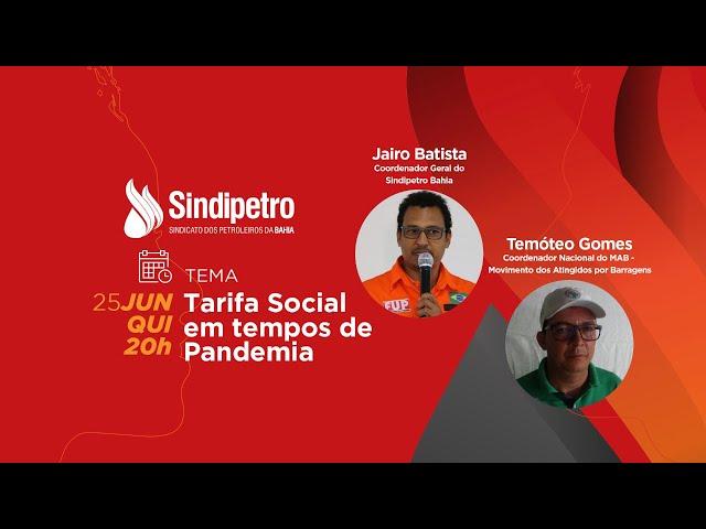 CARA A CARA: Tarifa Social em tempos de Pandemia