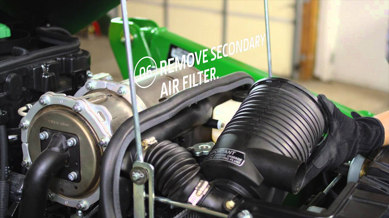 hight resolution of how to change your air filter john deere compact utility tractors youtube