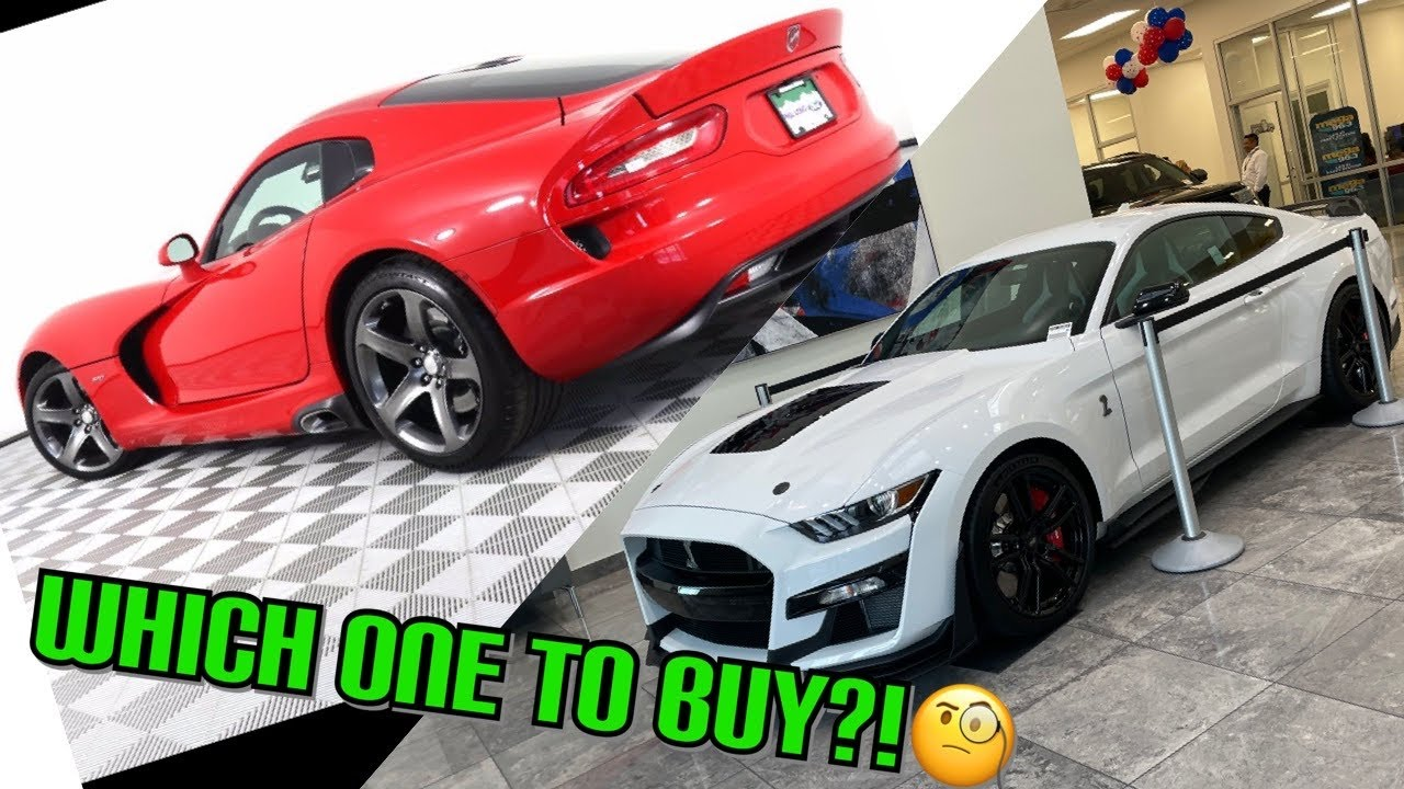 Should we BUY a 2020 GT500 or an SRT VIPER?! (NEW CHANNEL CAR)