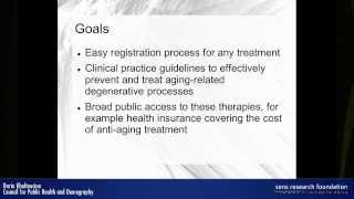 Legal problems of registering substances and therapies to cure aging - Daria Khaltourina