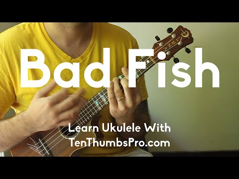Bad Fish - Sublime - Ukulele Tutorial - How To Play Reggae Ukulele - Reggae Strum