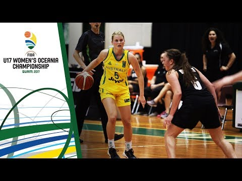 Australia v New Zealand - Full Game - Final - FIBA U17 Women's Oceania Championship 2017