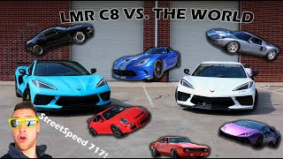 Battle of the C8's! We duel StreetSpeed717, a Mustang, Lambo and more!