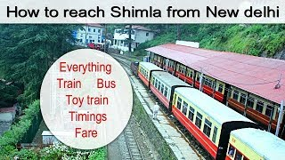 HOW TO REACH SHIMLA  in the best way possible in hindi