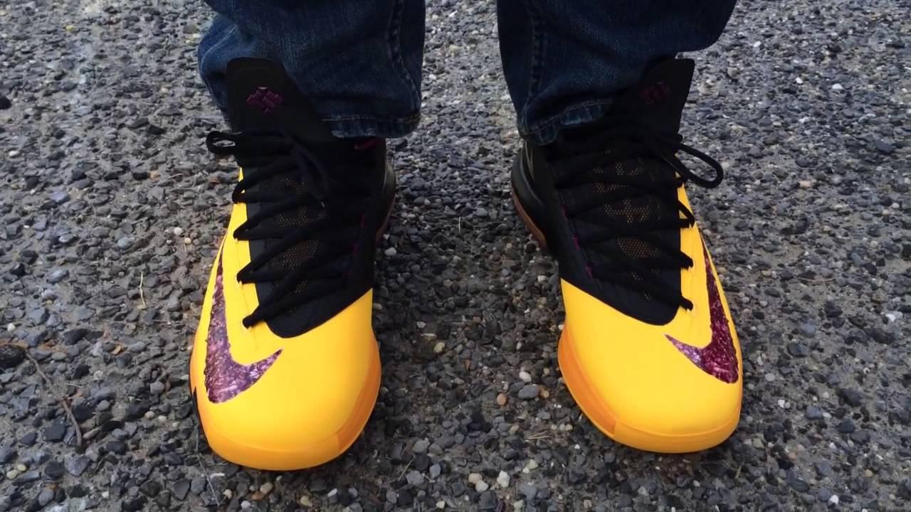 "Nike KD 6 VI ""PBJ"" ""Peanut Butter Jelly"" on feet - YouTube"