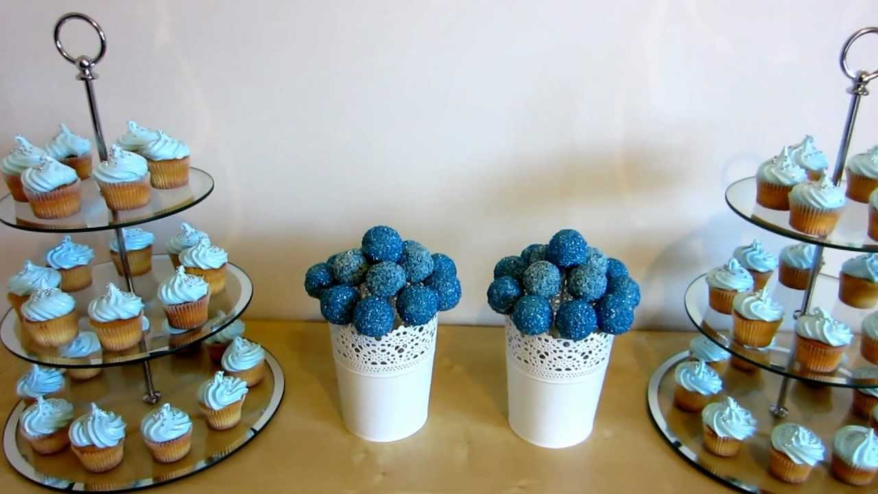 Blue Cake Pops Amp Blue Frosting Cupcakes Youtube