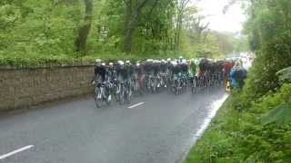Giro d'Italia exiting Bushmills, Co Antrim, Northern Ireland.