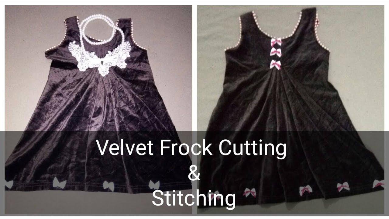 1cbc5084b798b Velvet Baby Jhabla Frock Design Easy Cutting & Stitching. Fashion Beauty